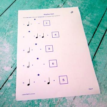A4 Rhythm Quiz 1 reverse