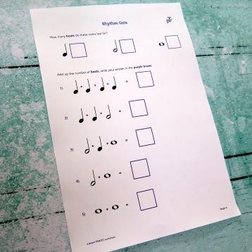 A4 Rhythm Quiz 1