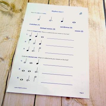 A4 Rhythm Quiz 2 front