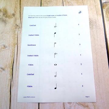 A4 Rhythm Quiz 3 reverse
