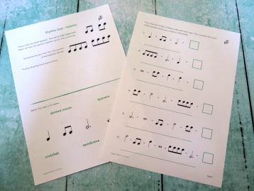 Stage B Rhythm Quiz Quavers