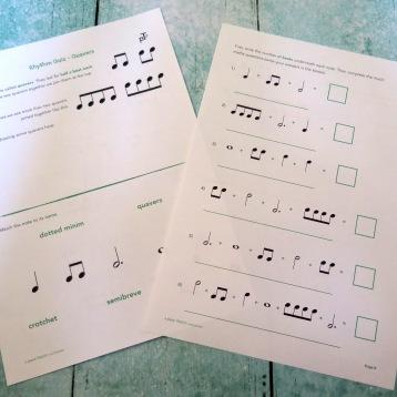 Stage B Rhythm Quiz Quavers