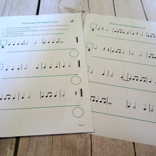 Stage B Rhythm & Time Sig Quiz