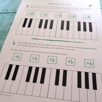 Stage B Sharps and Flats Quiz 1