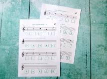 Stage B Treble Clef A to E (minor)