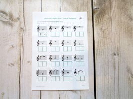 Stage B Treble Clef FACE Letters and Lengths Quiz