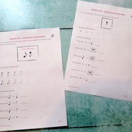 Stage C Rhythm Quiz Quavers and Quaver Rests