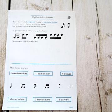 D2 Rhythm Quiz Semiquavers Front